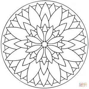 coloring pages mandala flower flower mandala sketch coloring page