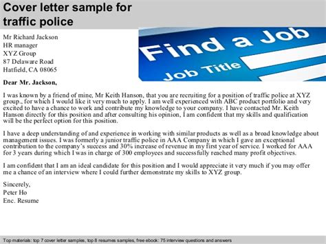 Traffic Manager Cover Letter by Traffic Cover Letter