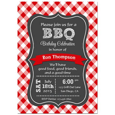 bbq invitations templates free bbq invitation printable or printed with free shipping