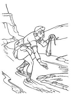 day  samuel anoints david coloring page  memory verse