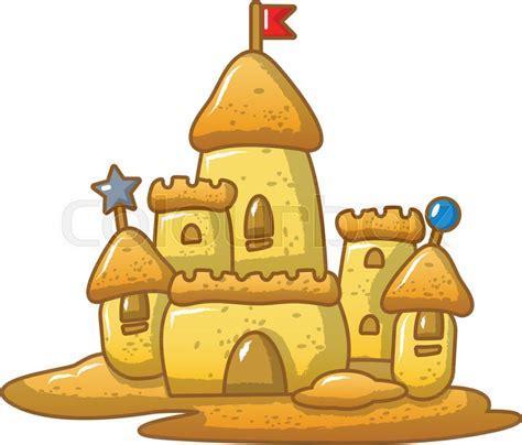 big sand castle icon cartoon stock vector colourbox