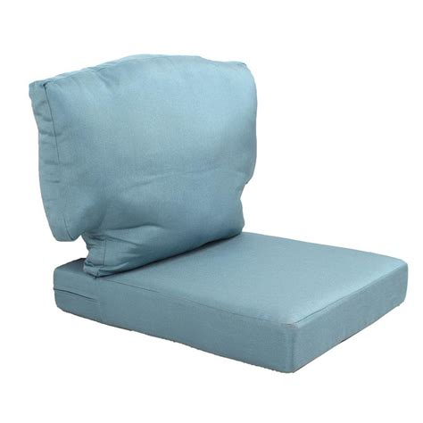 Martha Stewart Patio Furniture Replacement Cushions Martha Stewart Living Charlottetown Washed Blue Replacement Outdoor Chair Cushion 89 65601 The