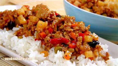 ground pork in tomato sauce cook n share world cuisines