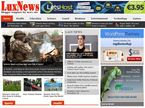blogger news templates free download 20 best free news based blogger templates download