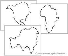 montessori placemat printable mapa de los continentes blanco y negro para imprimir