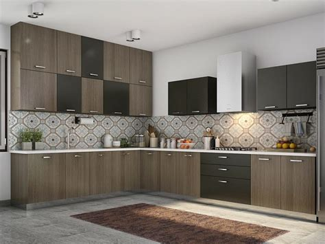 Cales L shaped Modular Kitchen Designs India   HomeLane