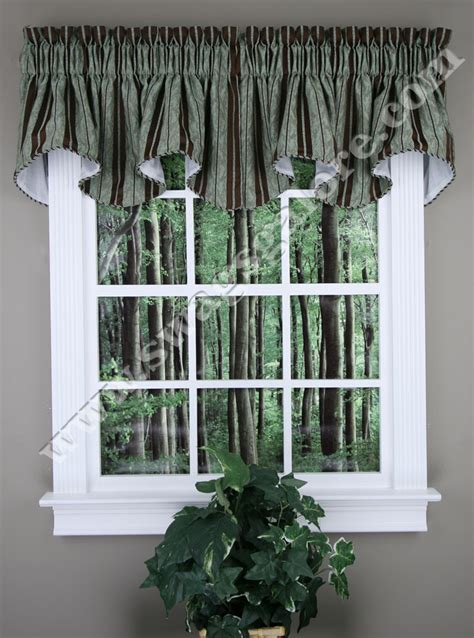 Swags Galore Valances Renaissance Cooper Lined Scalloped Valance With Cording