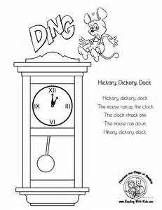 hickory dickory dock coloring pages coloring home