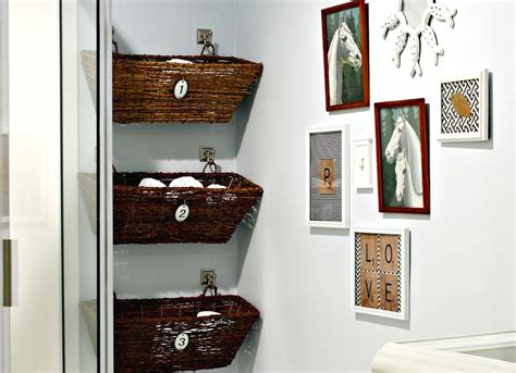 bathroom wall storage baskets wall mounted basket storage in the bathroom 18 bathroom