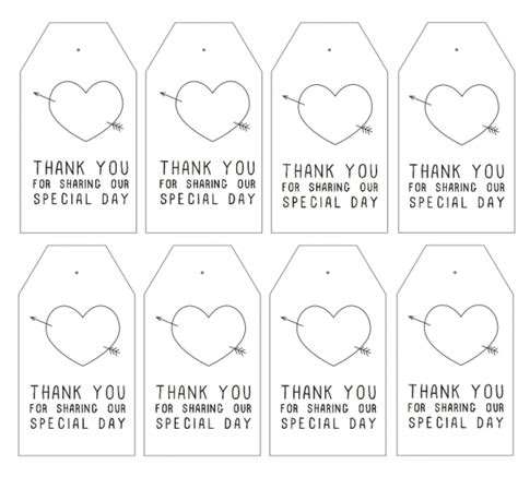wedding favors templates free printable free printable thank you tags for favors printable 360