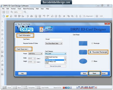 mac id card design software screenshots for designing and screenshots of id card maker software to know how to make