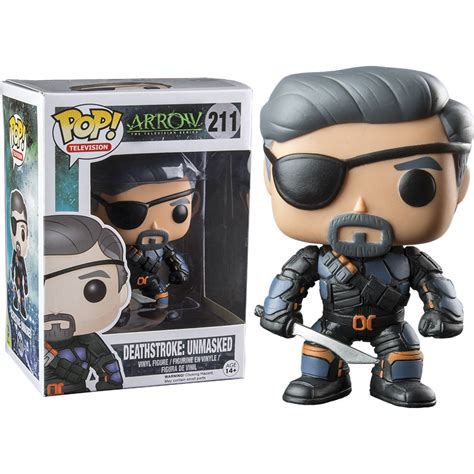 funko arrow deathstroke unmasked pop vinyl figure at hobby warehouse