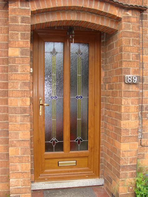 Coloured Upvc Front Doors Upvc Golden Oak Coloured Lead Dm Windows