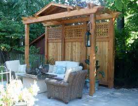 Pergola With Screen by Pergola Privacy Screen Contemporary Landscape