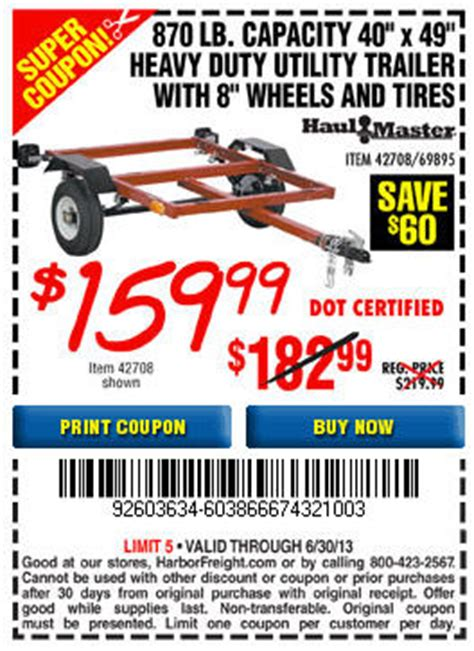 harbor freight boat trailer coupon harbor freight trailer coupon