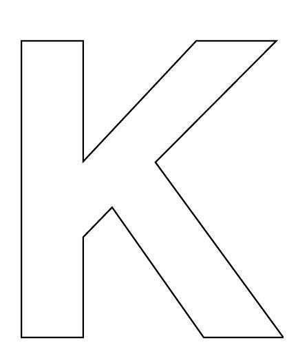 free coloring pages of letter letter k