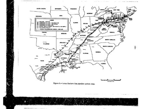 texas eastern pipeline map texas eastern gas pipeline system map in texas eastern gas pipeline company ruptures and fires