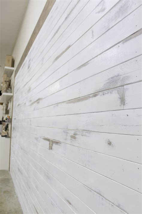 Shiplap White Wall A Shiplap Wall And Distressing News Mccall Manor