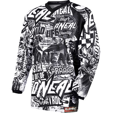 Jersey Cross Oneal By Kaosking 2016 oneal element jersey black white