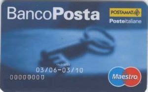 codice banco posta bank card maestro quot bancoposta quot poste italiane italy