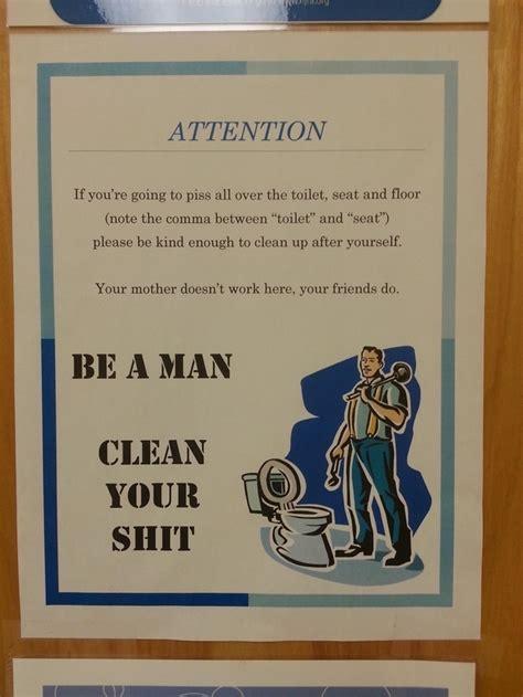 hilarious signs    public bathroom