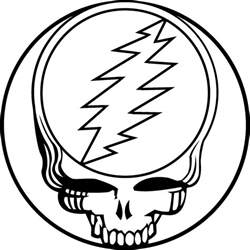 dead outline template free grateful dead bears coloring pages