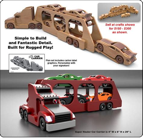 wooden kenworth famous kenworth semi truck trailer wood toy plan set