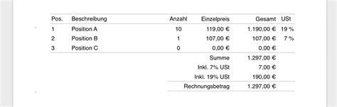 Rechnung Muster Pages pages vorlage rechnung numbersvorlagen de