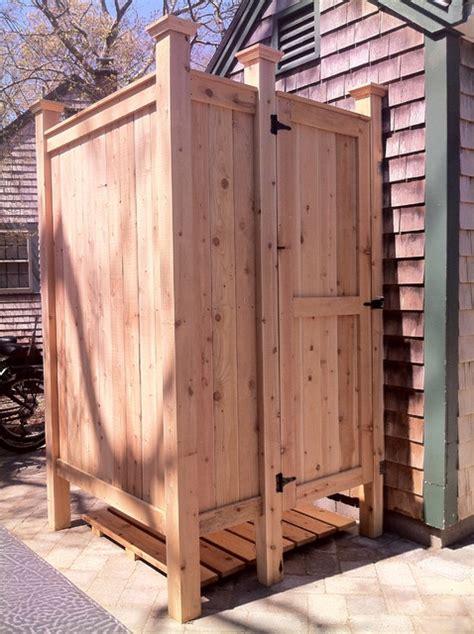 Standard Outdoor Cedar Shower   Cape Cod, MA   Outdoor