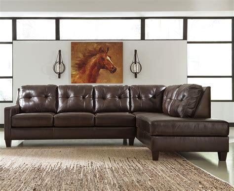 leather sectional sofa ashley signature design by ashley o kean leather match 2 piece