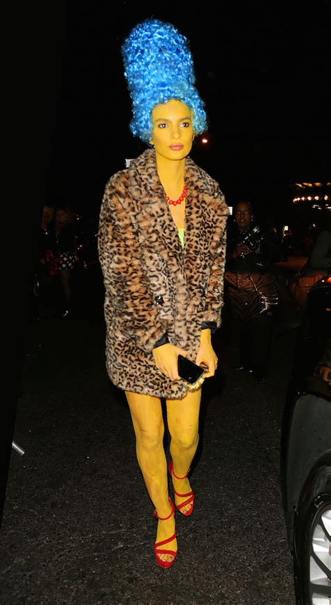 emily ratajkowski halloween dancing dlisted emily ratajowski dresses as marge simpson at