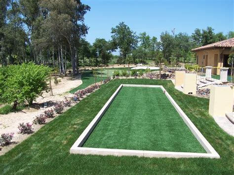bocce ball courts traditional landscape san