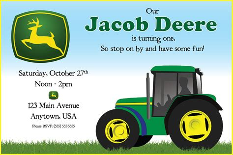 printable john deere birthday invitations free free printable john deere printable birthday invitations