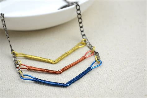 Diy Handmade Jewelry - handmade copper jewelry diy coiled chevron necklace 183 how