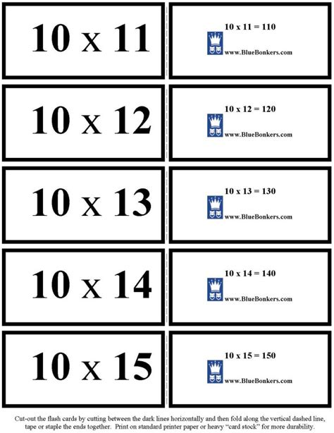 Math Flash Card Template Free by Multiplication Flash Cards Template Free Free Printable