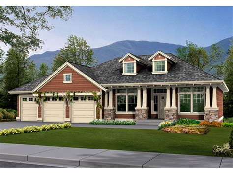 ranch house plans craftsman style cottage house plans