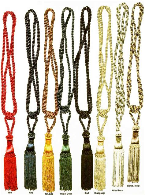 tassel tiebacks for drapes curtain tieback tassels