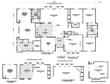 wide floor plans triplewide homes 5 bedroom