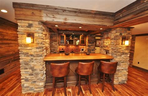 Pendant Lighting Kitchen Island Ideas by Western Themed Basement Rustic Home Bar Other Metro