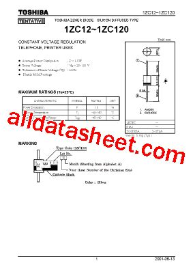 zc transistor datasheet 1zc18 datasheet pdf toshiba semiconductor