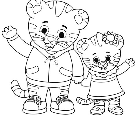 coloring page of daniel tiger daniel tiger coloring pages free for kids page printable