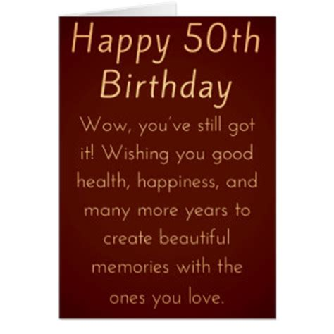 50th Birthday Cards For Him 50th Birthday For Him Greeting Cards Zazzle