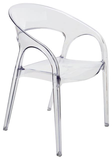 kessler back acrylic modern clear dining chair