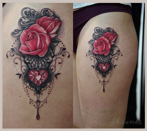 rose with lace tattoo image result for lace tattoos lace