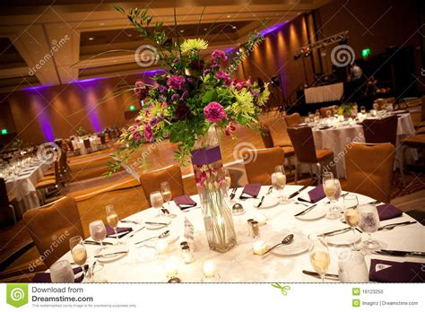 Banquet Table Layout Wedding Reception Tables Stock Photo Image 16123250