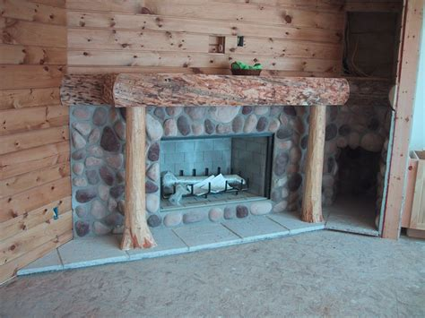 river rock faux fireplace pictures to pin on