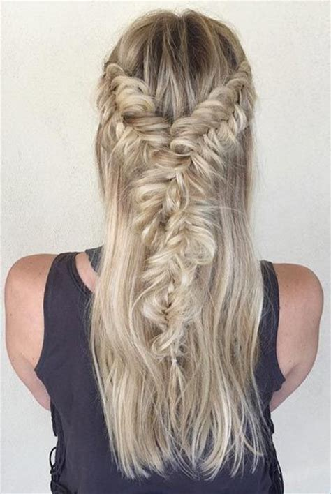 hairstyles half up half down with braids fashionable braided half up half down hairstyle styles