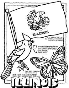Illinois Coloring Pages illinois crayola ca