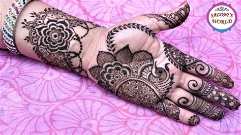 henna design application how to apply simple floral arabic henna mehndi designs for