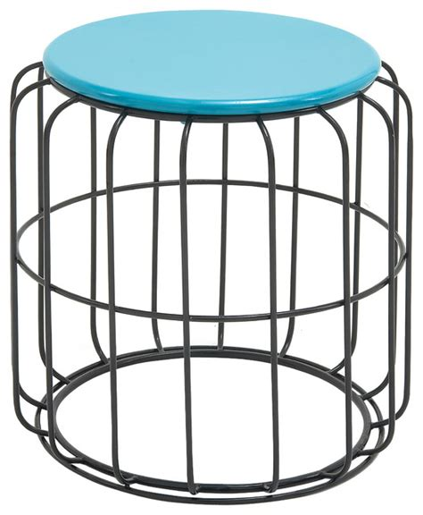 outdoor metal folding accent table blue room classy metal accent table in blue and black color